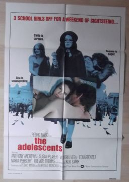 Adolescents, Original Movie Poster, Anthony Andrews, Koo Stark, '75